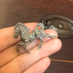 Handcrafted Clay Enamel Painted Horse Pin